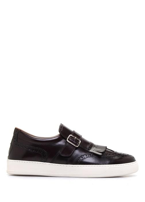 Henry Bordo Deri Erkek Sneaker
