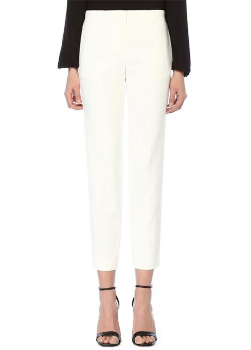 Beyaz Klasik Cigarette Pantolon