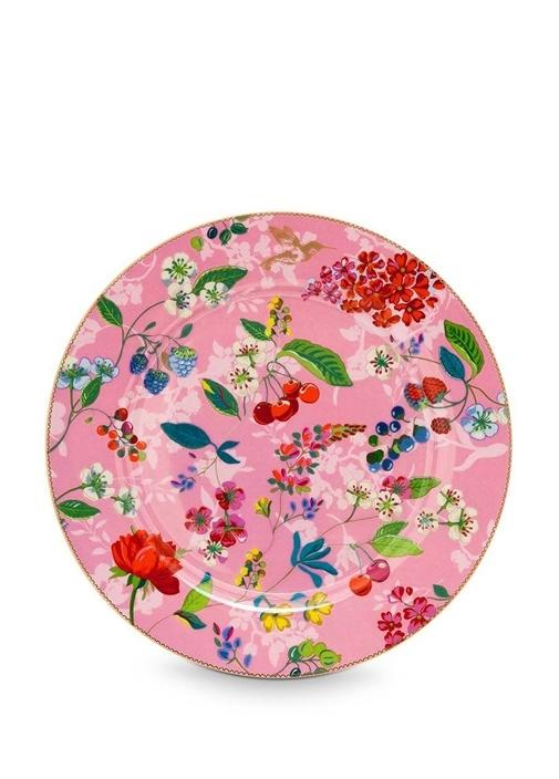 Floral Pip Kirazlı Pembe Supla
