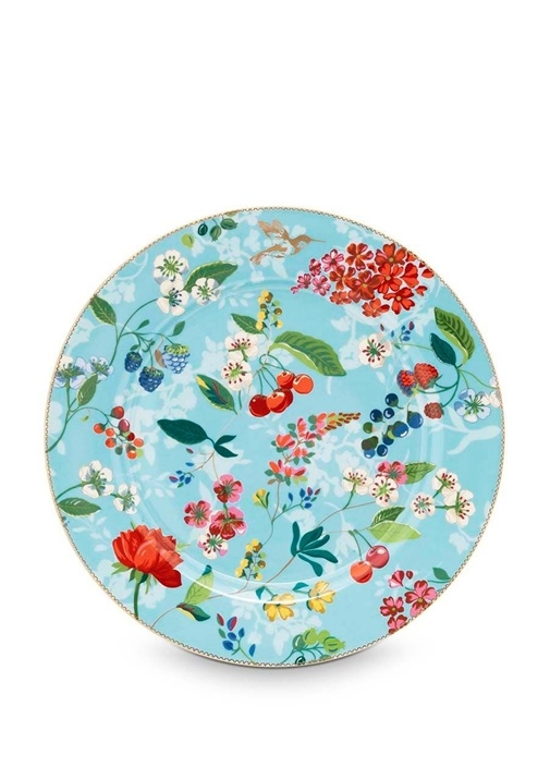 Floral Pip Kirazlı Mavi Supla