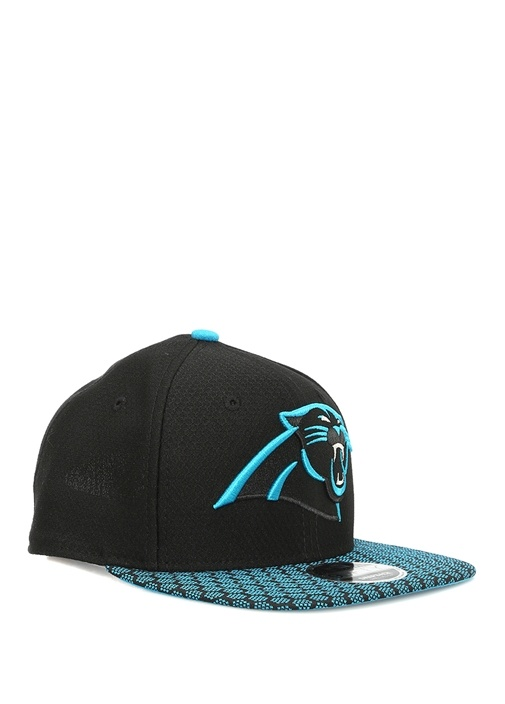 Siyah Mavi Kaplan Patchli Erkek Şapka