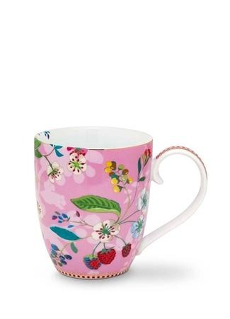 Pip Studio Floral Kirazlı Pembe Mug Standart