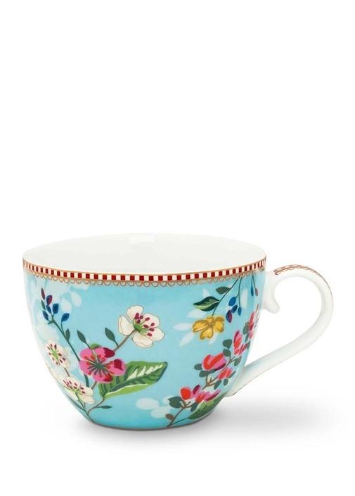 Floral Pip Kirazlı Mavi Cup