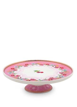 Pip Studio Floral Kirazlı Pembe Mini Kek Standı Standart