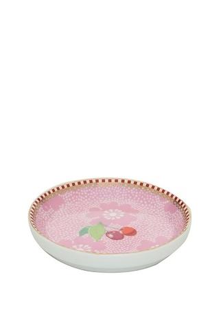 Pip Studio Floral Kirazlı Pembe Çay Tabağı Standart