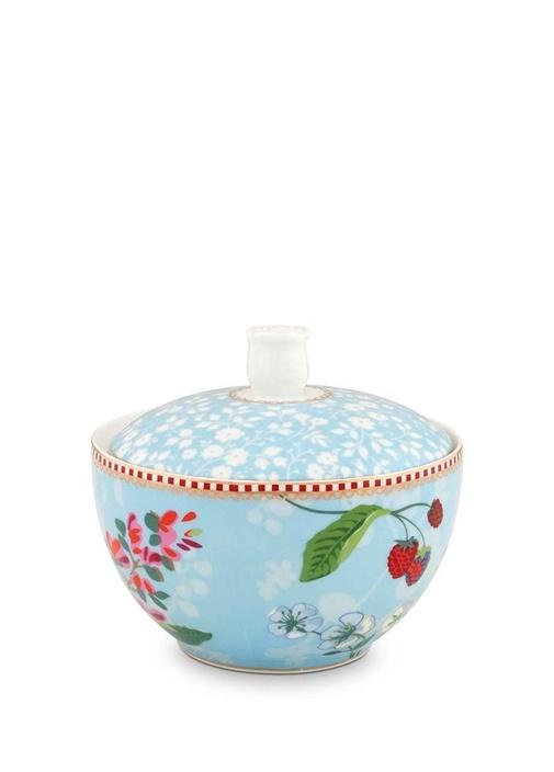 Floral Pip Kirazlı Mavi Şekerlik