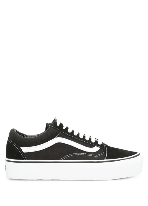 df0cfd02b0 Vans Siyah-Beyaz KADIN Platform Old Skool Siyah Kadın Süet Sneaker ...