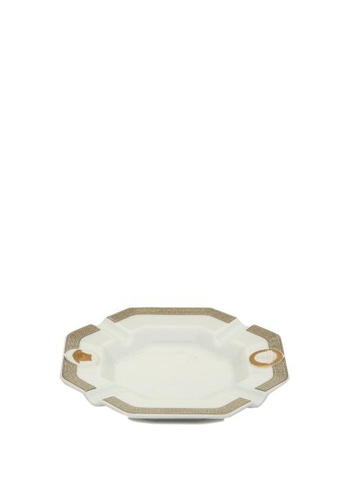Gorgona Beyaz Gold 14 cm Porselen Kül Tablası
