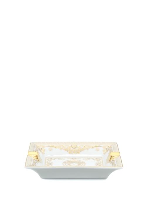 Medusa Gala Beyaz Gold 13 cm Porselen Kül Tablası