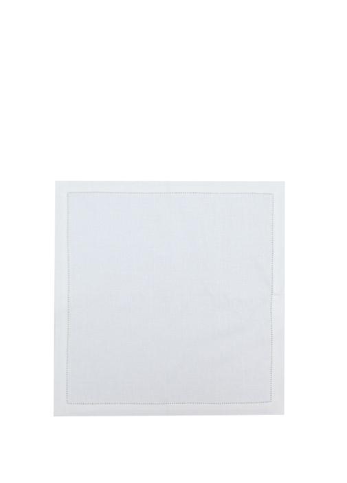 Beyaz 40x40 cm Keten Peçete