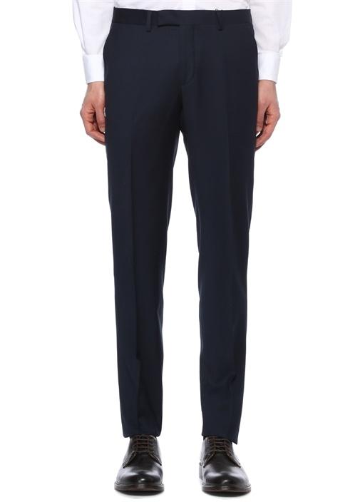 Lacivert Klasik İnce Yünlü Pantolon
