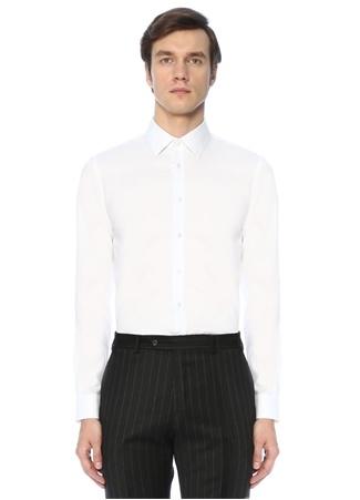 Beymen Bes Erkek Custom Fit Beyaz Modern Yaka Oxford Gömlek 45 IT male