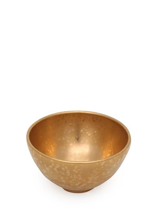 Alchimie Gold Porselen Dekoratif Kase