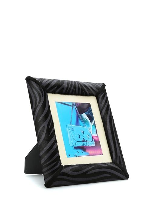 Siyah Dokulu Desenli 19x24 Cm Çerçeve