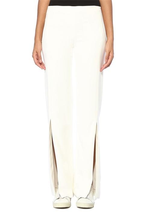 Zaler Beyaz Paçaları Yırtmaçlı Pantolon