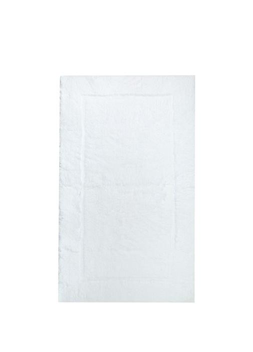 Must Beyaz Dikdörtgen Formlu Banyo Paspası