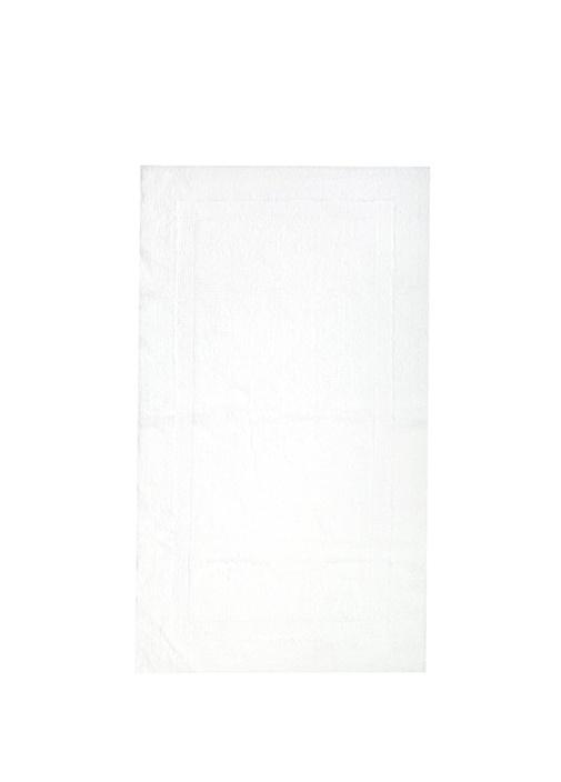 Beyaz Dikdörtgen Formlu Banyo Paspası