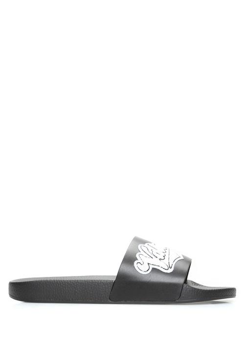 Valentino Garavani Siyah Logolu Erkek Terlik