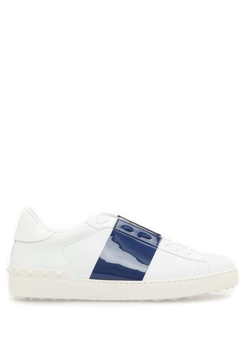 Valentino Mavi-Beyaz ERKEK  Valentino Garavani Beyaz Deri Erkek Sneaker 467222 Beymen