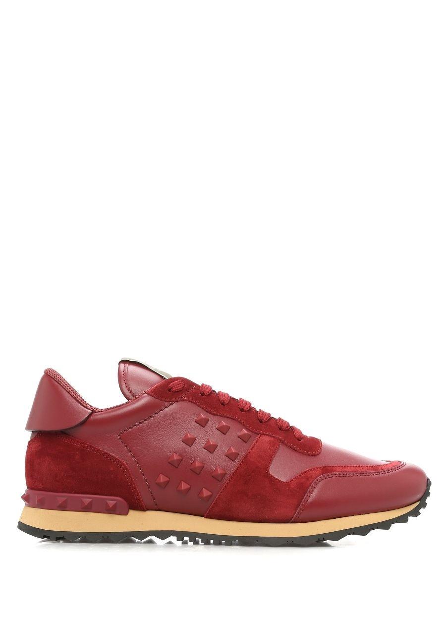 Valentino Kırmızı ERKEK  Valentino Garavani Kirmizi Rockstud Erkek Sneaker 363457 Beymen