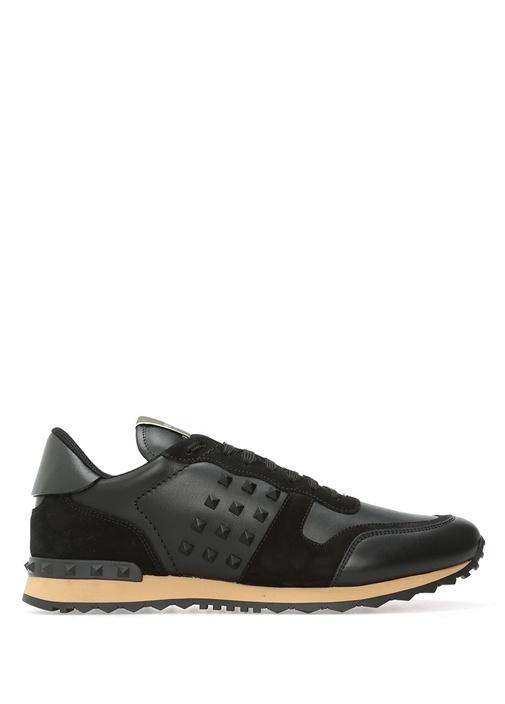 Valentino Garavani Siyah Erkek Deri Sneaker