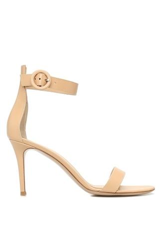 Kadın Portofino Altın Rengi İnce Bantlı Deri Sandalet 36.5 EU