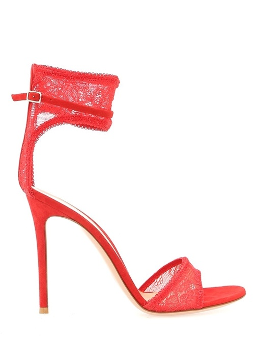 Gianvito Rossi Kırmızı KADIN  Halle Kırmızı Kadın Sandalet 487200 Beymen