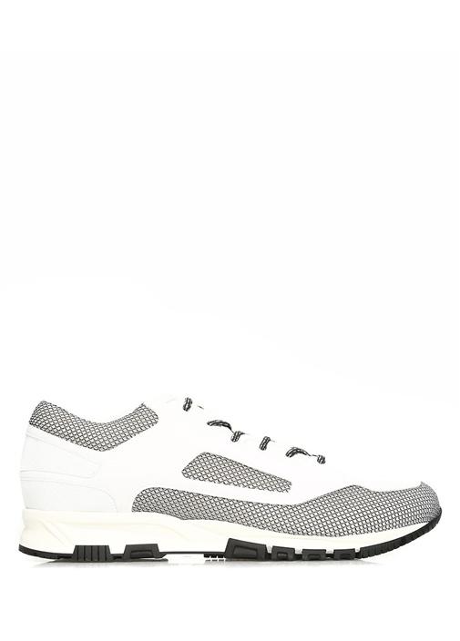 Lanvin Siyah-Beyaz ERKEK  Cross Gri Beyaz Erkek Sneaker 496760 Beymen