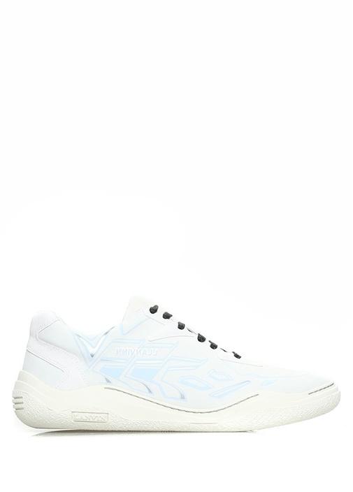 Lanvin Gri ERKEK  Beyaz Baskı Detaylı Erkek Sneaker 496756 Beymen