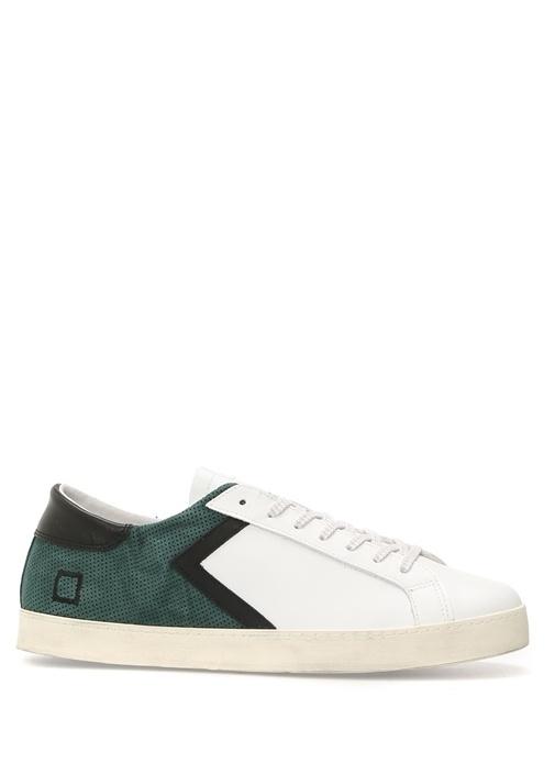 D.A.T.E. Yeşil ERKEK  Hill Low Yeşil Delikli Deri Erkek Sneaker 471616 Beymen