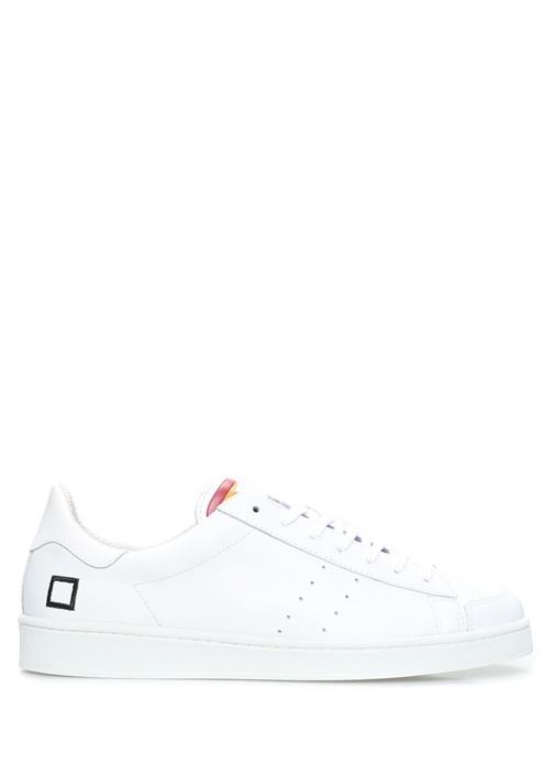 D.A.T.E. Çok Renkli ERKEK  Twist Rainbow Beyaz Deri Erkek Sneaker 471632 Beymen