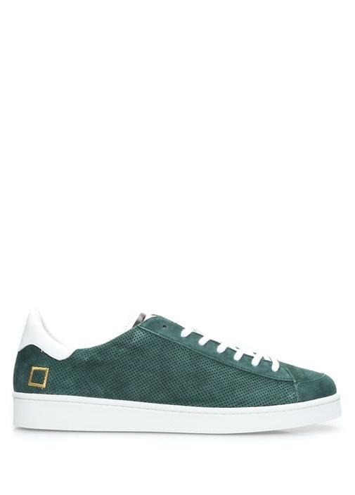 D.A.T.E. Yeşil ERKEK  Twist Yeşil Delikli Süet Erkek Sneaker 471633 Beymen
