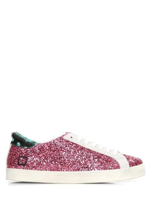 D.A.T.E. Pembe KADIN  Hill Low Glitter Pembe Deri Kadın Sneaker 471617 Beymen