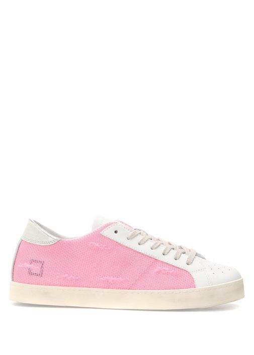 D.A.T.E. Pembe KADIN  Hill Low Pembe Yıpratmalı Deri Kadın Sneaker 471625 Beymen