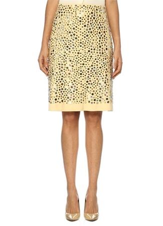Bottega Veneta Kadın Sarı Normal Bel Kuşgözlü Boncuklu Mini Süet Etek 40 I (IALY) Ürün Resmi