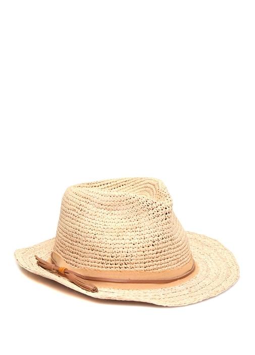 Bej Püskül Detaylı Kadın Şapka