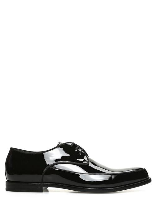 Saint Laurent Siyah ERKEK  Charles Siyah Bağcıklı Rugan Smokin Ayakkabısı 503311 Beymen