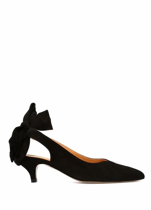 Ganni Siyah KADIN  Siyah Sivri Burun Süet Topuklu Ayakkabı 488618 Beymen