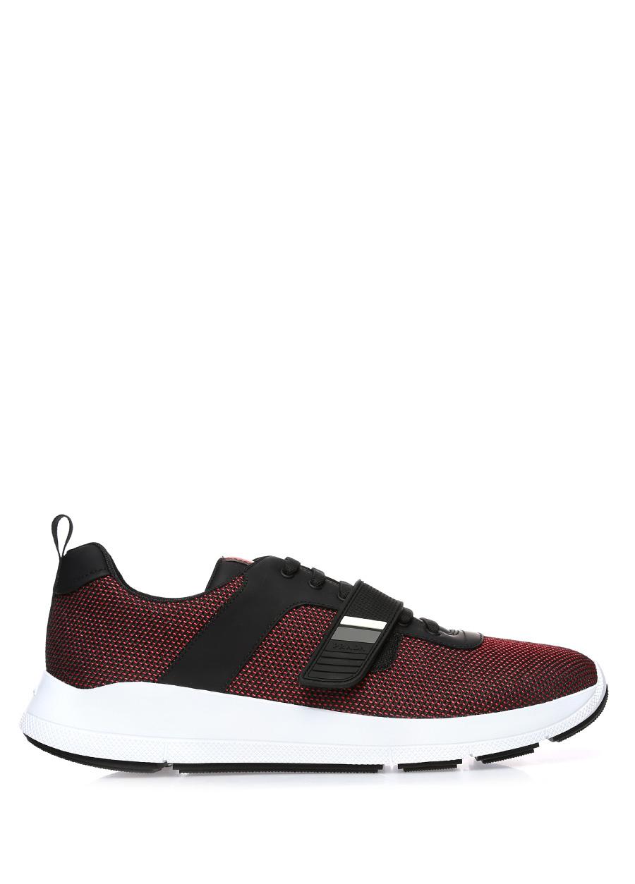 Prada Sport Siyah Bordo Erkek Sneaker