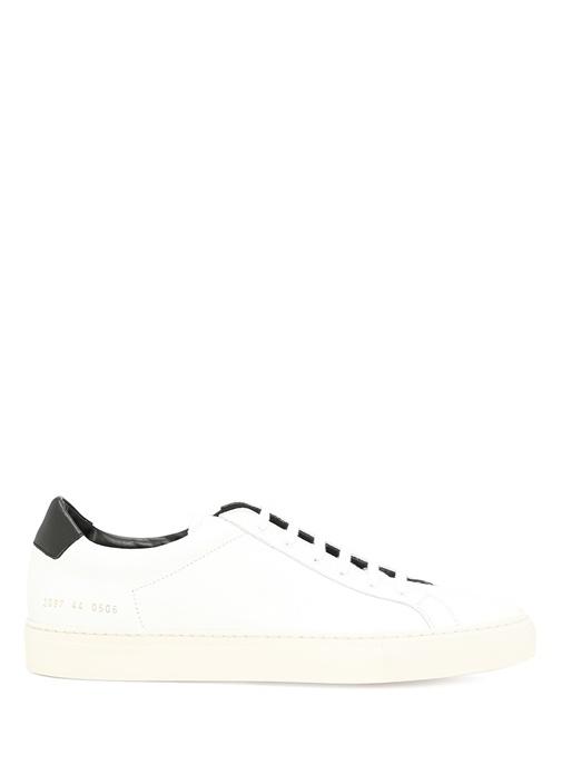 Common Projects Beyaz ERKEK  Beyaz Deri Erkek Sneaker 348668 Beymen