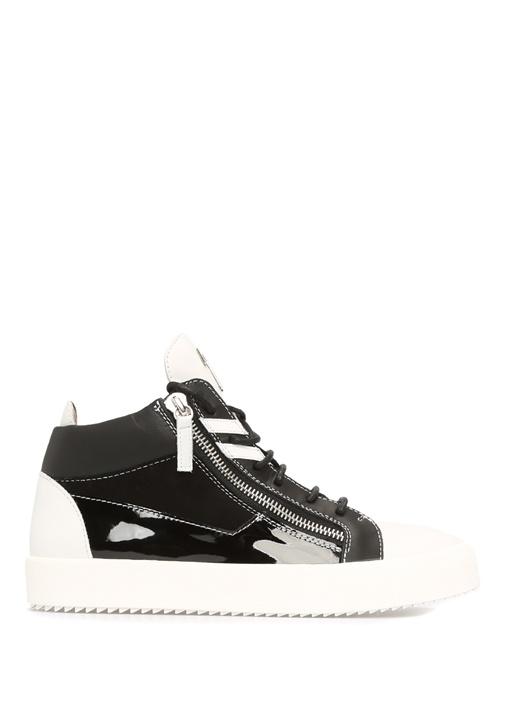 Giuseppe Zanotti Siyah-Beyaz ERKEK  Kriss Siyah Beyaz Deri Erkek Sneaker 420796 Beymen