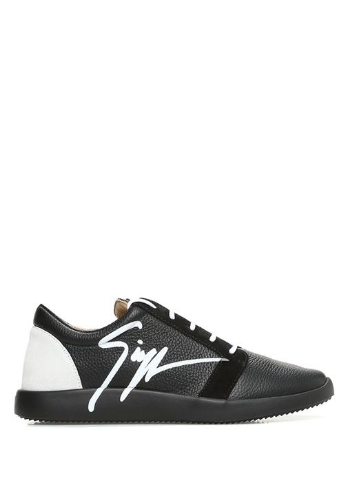 Giuseppe Zanotti Siyah ERKEK  Singleg Siyah Süet Detaylı Erkek Deri Sneaker 468785 Beymen