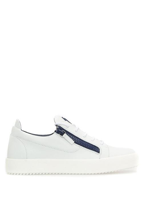 Giuseppe Zanotti Beyaz ERKEK  Frankie Beyaz Deri Erkek Sneaker 420780 Beymen