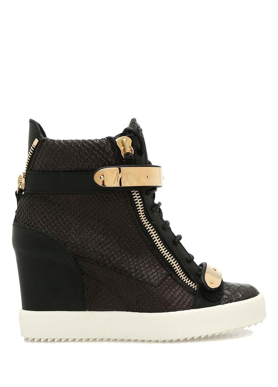 Giuseppe Zanotti Siyah KADIN  Coby Siyah Deri Kadın Sneaker 349455 Beymen