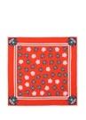 Kırmızı Mikro Logo Baskılı 40x80 Cm Kadın Eşarp