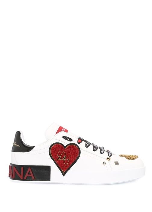 Portofino Nakışlı Beyaz Kadın Sneaker