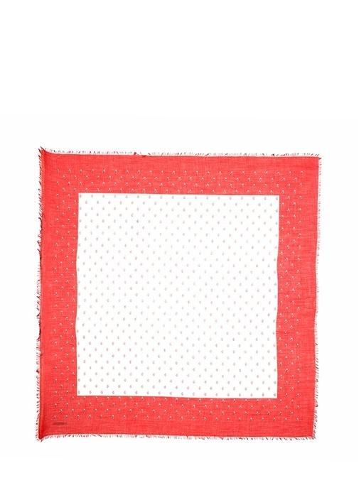 Valentino Garavani Kırmızı Beyaz Kadın Kaşmir Şal