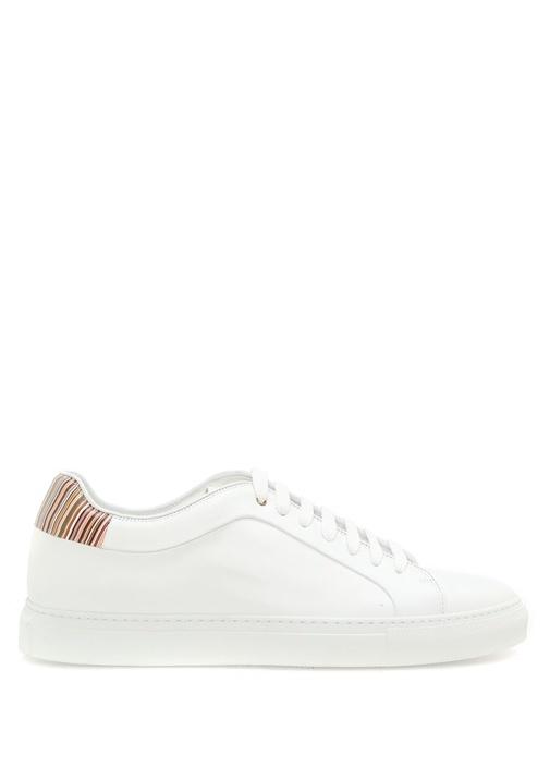 Paul Smith Beyaz ERKEK  Signature Çizgili Beyaz Erkek Deri Sneaker 478799 Beymen