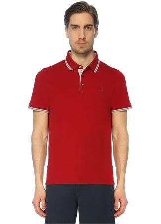 Erkek Polo Yaka T-shirt Kırmızı S EU