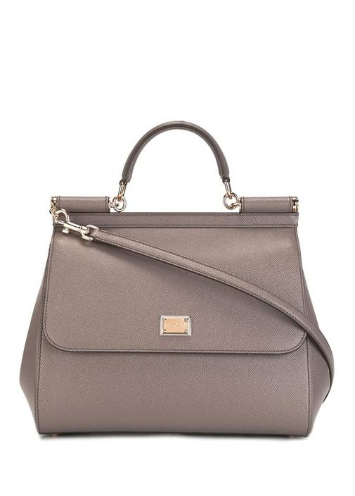 Vizon Logolu Kadın Deri Çanta